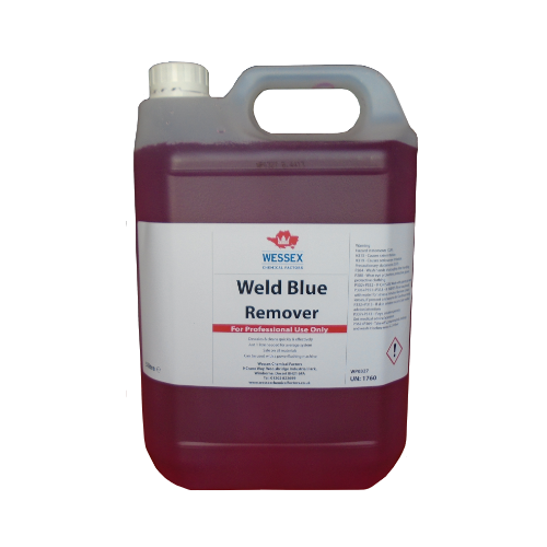 weld blue remover